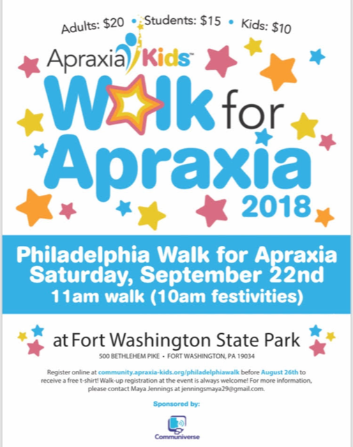 Philadelphia Walk For Apraxia